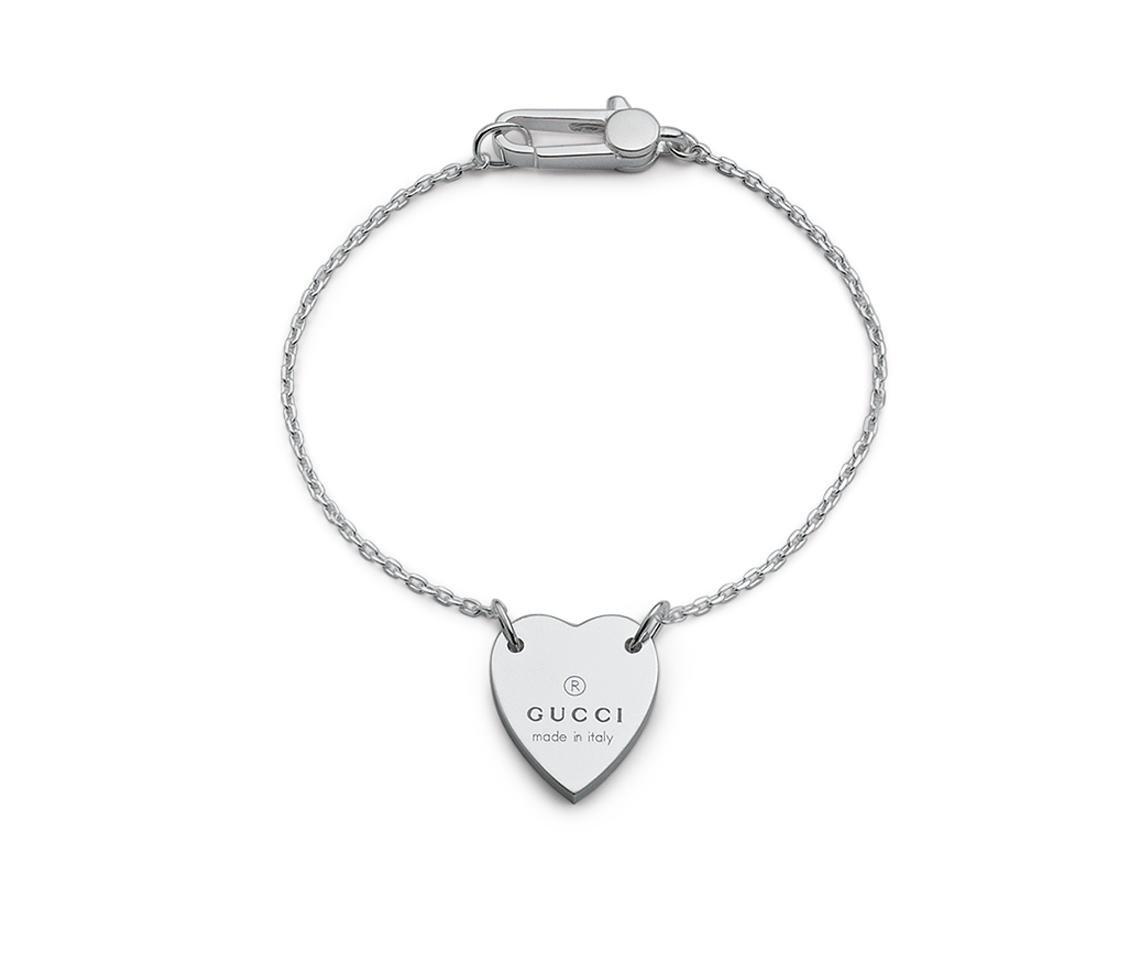 Gucci Trademark Silver Collection Bracelet Size 7,48 YBA223513001019