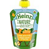 Heinz by Nature Organic Baby Food - Mango, Apricot & Kale Purée - 128mL Pouch (Pack of 6)
