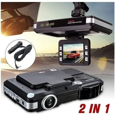 "2.0/"" 720P HD 2 In 1 Car Camera DVR Dash Cam Recorder Radar Laser Speed Detector"