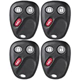SCITOO 4 PCS Keyless Entry Remote Control Car Key Fob Replacement for LHJ011