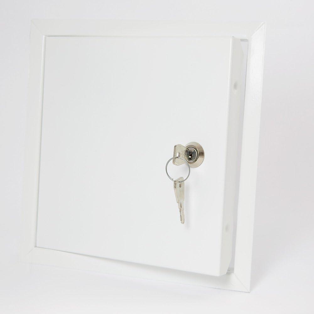 rlma3040 Paneles de acceso en pared 300X400 Metal con cerradura puerta de inspecci/ón de acero galvanizado pintado A
