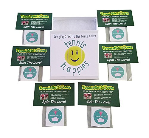 Tennis Butts Fun Racket Decal That Starts Your Match Off with a Laugh! Perfect Tennis Gift (Box of Butts – Grannies or Thongs (6 packs total))