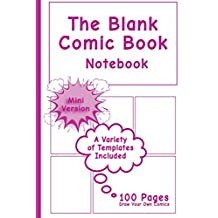 Blank Comic Book Notebook - Mini Version: Draw Your Own Comics, Comic Book Notebook / Cartoon sketchbook, Multi-Templates, Purple Power - [Professional Binding]
