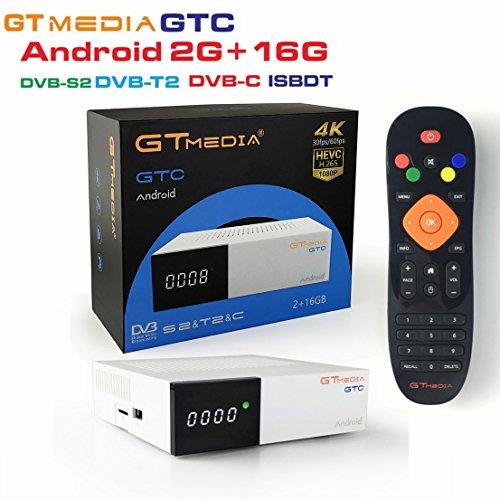 Freesat GTMedia GTC Satellite Receiver DVB-S2/-C/T2 ISDB-T Amlogic S905D android 6.0 2GB RAM 16GB ROM BT4.0
