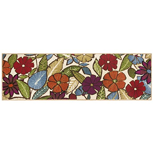 Modern Living Flowers Decorative Area Accent Rug, 20 by 60-I