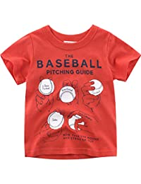 Lavany Baby Boys Girls Shirts Short Sleeve Baseball Printed Clothes Tee for Baby