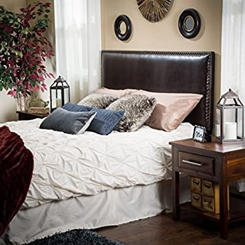 Westin King-to-Cal King Adjustable Brown Leather Headboard