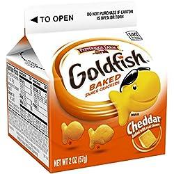Pepperidge Farm, Goldfish, Crackers, Cheddar Cheese, 2 oz, Carton, 48-count
