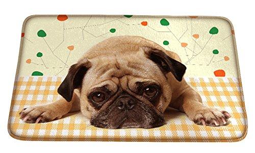Meffort Inc Printed Soft Floor Door Mat Carpet / Area Entry Rugs for Kitchen Dining Living Hallway Bathroom - Bulldog