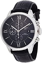 Tissot Men's 'T-Classic' Swiss Stainless Steel and Leather Automatic Watch, Color:Black (Model: T0994271605800)
