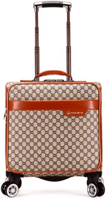 Maletín para computadora portátil con Ruedas, Bolso de la Oficina de Negocios, maletín con Ruedas para portátil, Bolso de Cabina de Viaje piloto, maletín con Ruedas, 18 Pulgadas/Negro