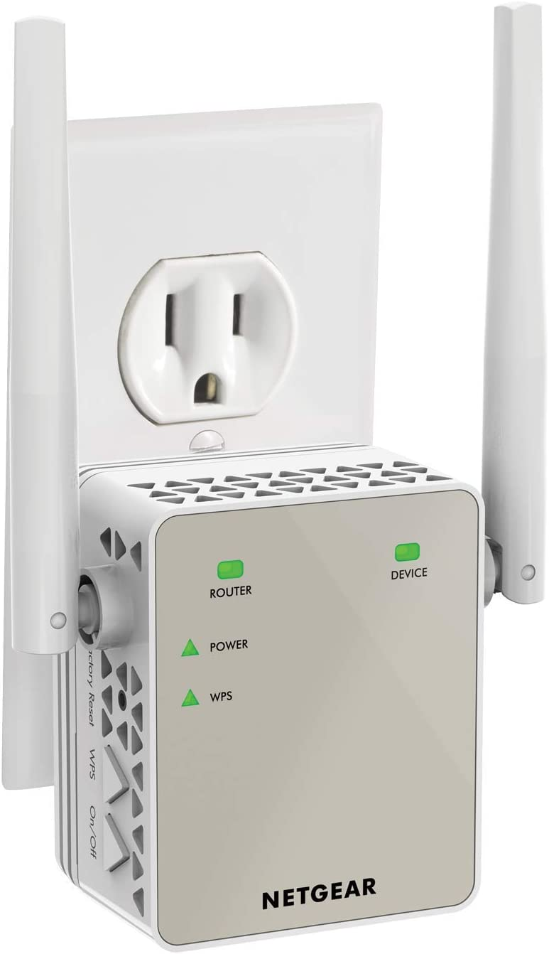 NETGEAR WiFi Range Extender EX6120 - Coverage up to 1200 sq.ft. 20 devices with AC1200 Dual Band Wireless Signal Booster & Repeater (up to 1200Mbps speed)