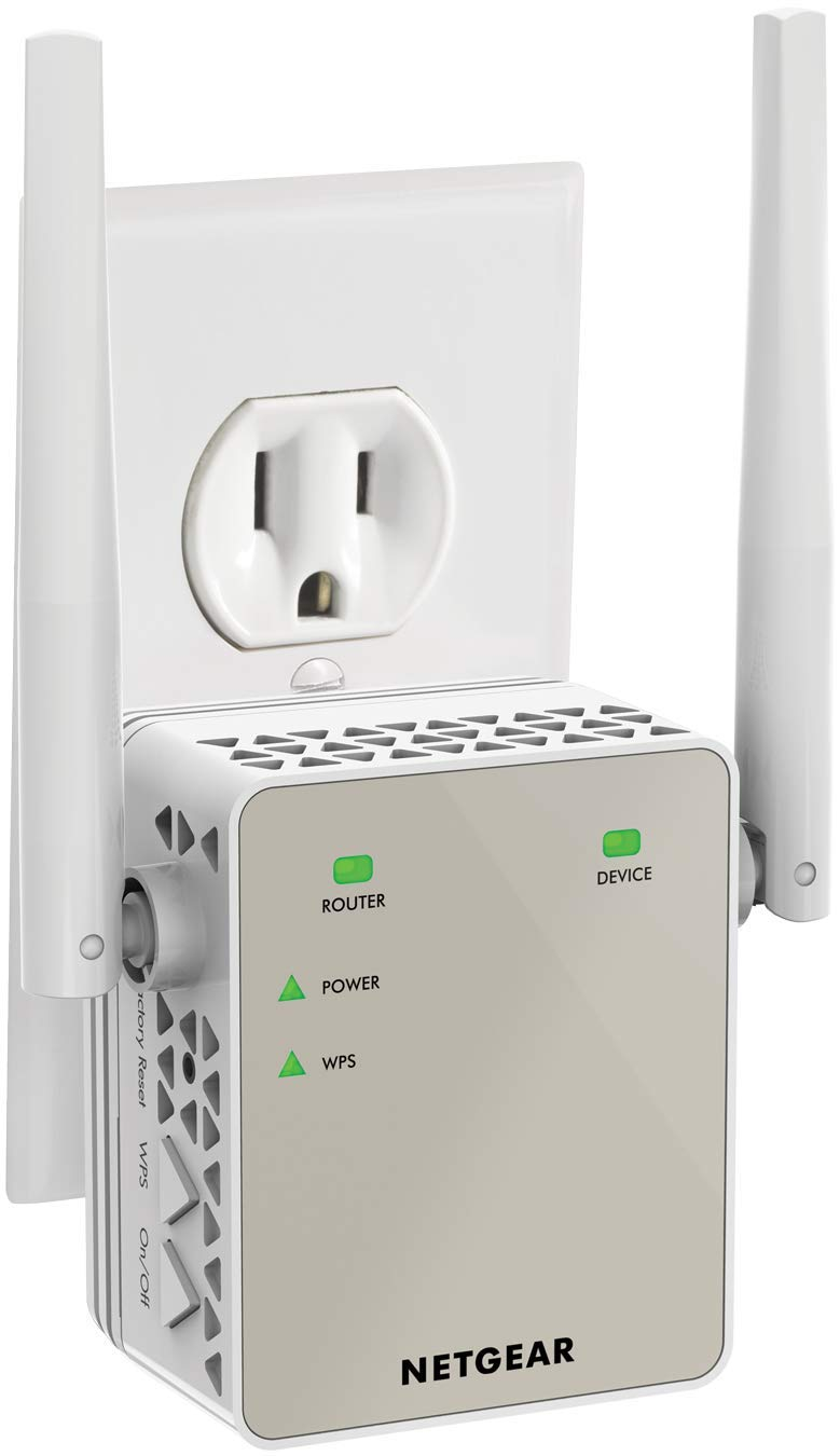 NETGEAR WiFi Range Extender EX6120 - Coverage up to 1200 sq.ft. and 20 devices with AC1200 Dual Band Wireless Signal Booster & Repeater (up to 1200Mbps speed), and Compact Wall Plug Design by NETGEAR