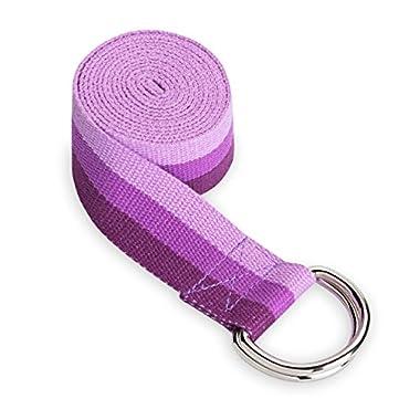 Gaiam Yoga Strap, 6', Deep Purple