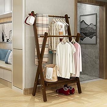 Amazon.com: chamarra impermeable de madera perchero estante ...