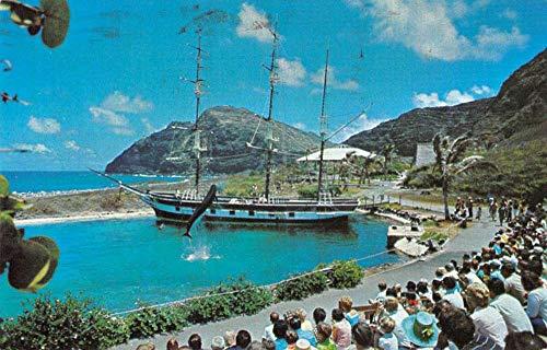 (Makapuu Point Oahu Hawaii Sea Life Park Whaler's Cove vintage pc ZA440652)