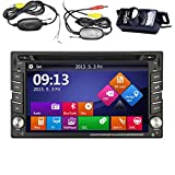 2 Din Car Autoradio Stereo Deck Head Unit Audio Automotive CD DVD MP3 Video FM AM Radio 6.5 Inch LCD Touch Screen Vehicle iPod USB SD Bluetooth Steering Wheel Control Wireless Backup Camera