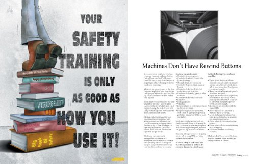 Workplace Safety Training Poster - Your Safety Training Is Only As Good As How You Use It!