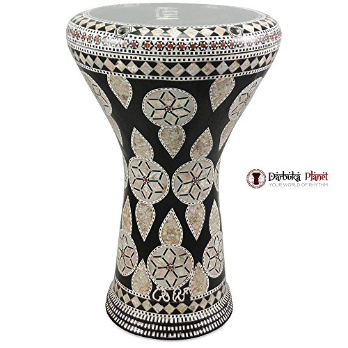 Gawharet El Fan 17'' Mother of Pearl Darbuka ''Northern Star'' Darbuka Drum Percussion by Gawharet El Fan