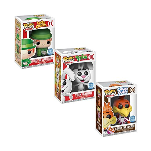 Funko POP! Cereal Ad Icons: Lucky The Leprechaun, Trix Rabbit, Sonny The Cuckoo Limited ()