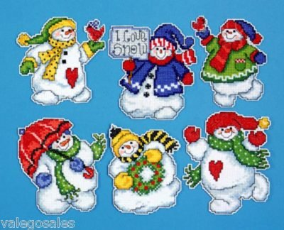 "Design Works Crafts I Love Snow, 3-1/2""-4"" Each Cross Stitch"