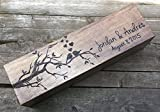 Custom Wedding Wine Box, Love Birds wine box, First Fight Box, Memory Box, wine box ceremony, wine box wedding, wedding gift, shower gift