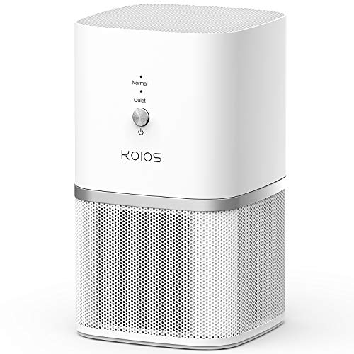 KOIOS Air Purifier, True HEPA Air Purifier for Home, Desktop Air Cleaner Compact Design, Super Quiet Rooms Offices, Removing Allergens, 3-Year Warranty
