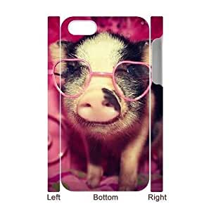 3D Bumper Plastic Case Of Pig customized case For Iphone 4/4s