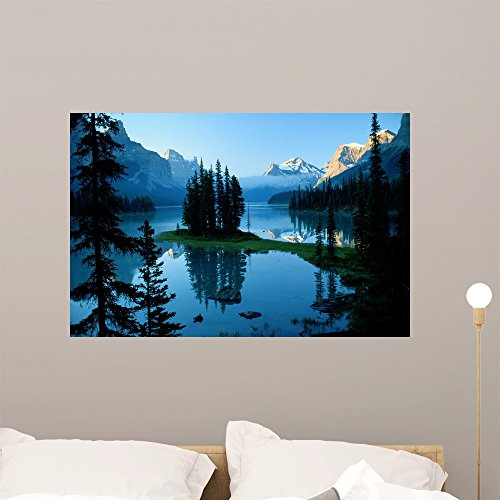 Lake Jasper National Park Wall Mural by Wallmonkeys Peel and Stick Graphic (36 in W x 24 in H) (Lake Jasper)