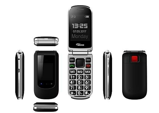 Desbloqueado Teléfono Flip Senior, 2G Teléfono Mayor Con ...