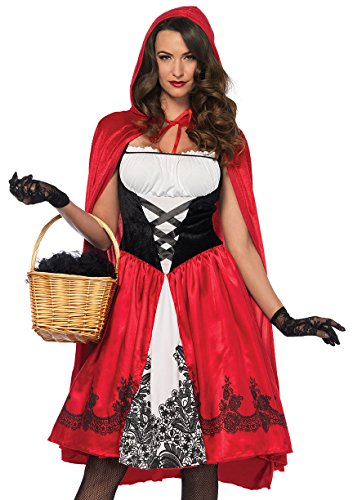 [Classic Little Red Riding Hood Adult Costume - Medium] (Womens Red Riding Hood Costumes)