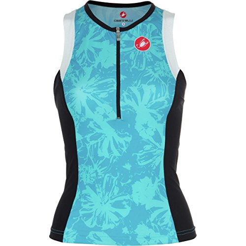 Castelli Free Donna Tri Top - Sleeveless - Women's Pastel Blue, - Triathlon Woman Power Of