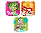 Disney-Pixar Inside Out Square Plates, 7 inches, 8 count