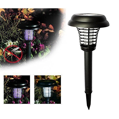 zqasales Solar Energy Anti-mosquito Lamp,Solar Power Garden Lawn LED Light Pest Bug Insect Mosquito Killer Lamp Zapper by zqasales