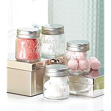 Set of 4 Mason Apothecary Storage Jars