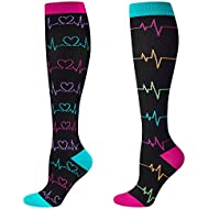 Compression Socks for Nurse(Women),2/3 Pairs, Graduated 20-30 mmHg Knee High Stocking, Fits for Nurse, Doctor, and Pregnancy, Reduce Fatigue, Swelling, Shin Splints, Faster Recovery