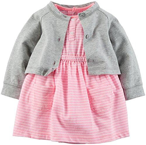 Carter's Baby Girls' 2 Piece Dress Set 121g465, Grey/Pink...