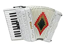 Fever Piano Accordion 3 Switches 26 Keys 48 Bass, White