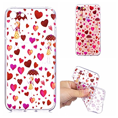 Etui Case Cover pour iphone 7 // iphone 8 Poids l/éger Ultra Mince Premium TPU Souple Silicone Plating Coquille Shock-Absorption Crystal Clear Cozy Hut Coque iphone 7 // iphone 8