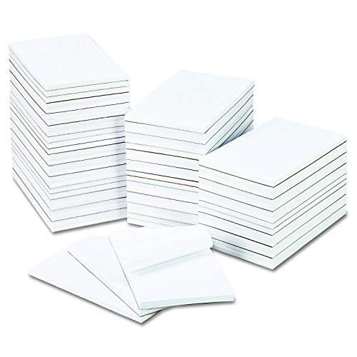 Universal Bulk Scratch Pads, Unruled, 5'' x 8'', White, 100-Sheet Pads, 64 Pads/Carton (35625) by Universal