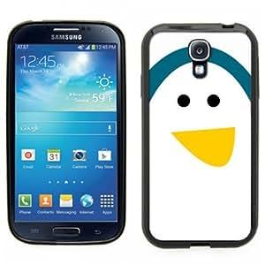 Samsung Galaxy S4 SIIII Black Rubber Silicone Case - Penguin Face. Very cute cartoon Penguin baby