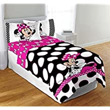 Disney Minnie Mouse Dots are the New Black Twin/Full Bedding Comforter and Twin Sheet Set by Disney