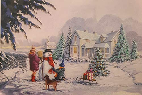 Holiday Boxed Christmas Cards Set of 14 - Variety to Choose From (Building Snowman)