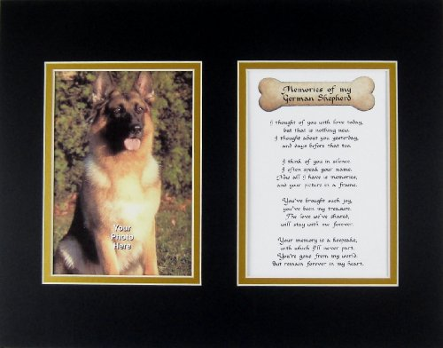 German Shepherd Angel - Memories of My German Shepherd Pet Dog Wall Decor Memorial Bereavement Keepsake Gift Poem