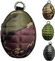 CyberDyer Creative Grenade Pouch Portable Coin Purse Key Cases Bluetooth Earphone Earbuds Zipper Holder