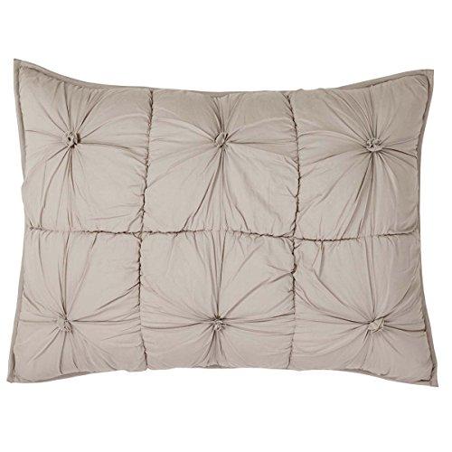 VHC Brands Farmhouse Bedding - Camille Grey Sham Standard Taupe