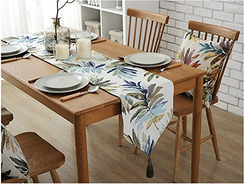 Beautiful Type Countryside Leaves Pattern Table Runners w...