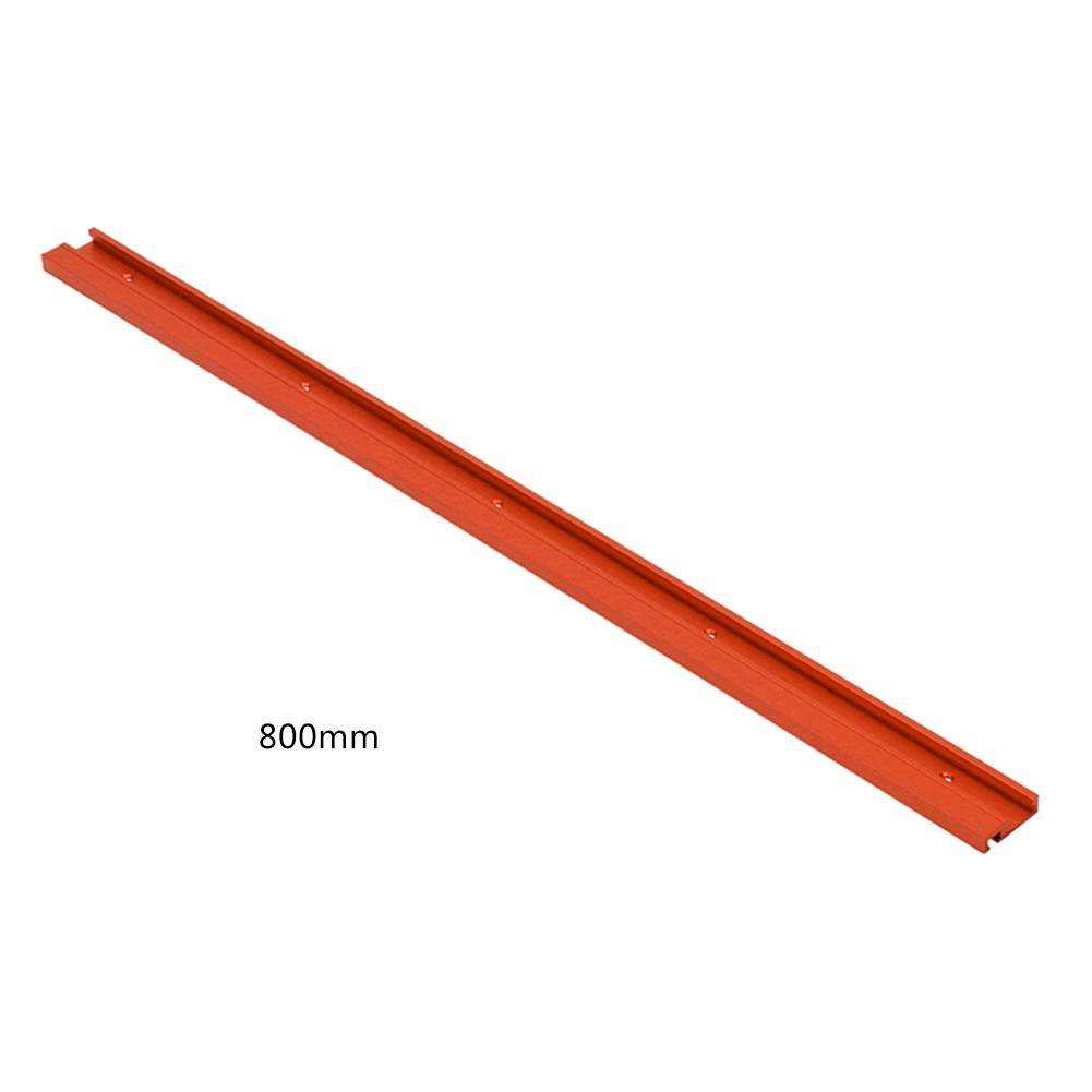 800mm Rojo Tipo de riel gu/ía inglete riel de inglete riel gu/ía para Sierra de Mesa Herramientas para Trabajar la Madera Bricolaje T-Slot 600mm