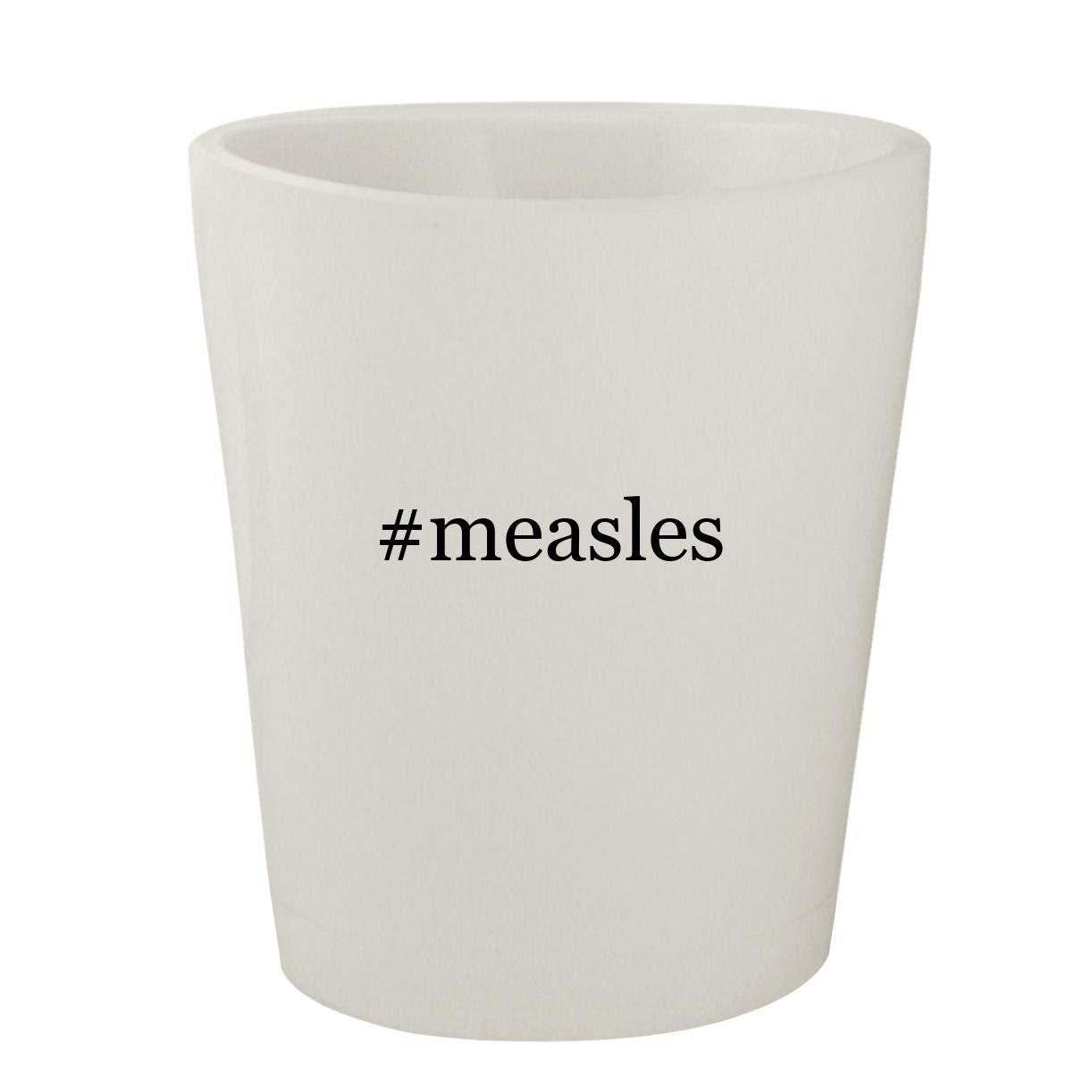 #measles - White Hashtag Ceramic 1.5oz Shot Glass