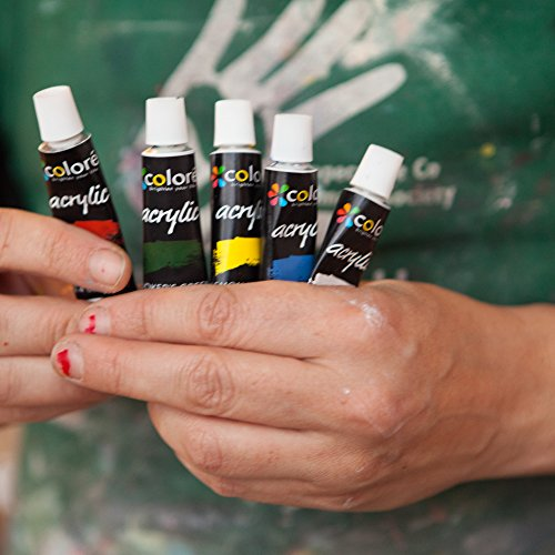 Colore Acrylic Paint Set Perfect For Painting Canvas Clay Fabric